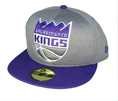 (Sacramento Kings Large Logo Fitted Size 7 5/8 Hat Cap - Gray)