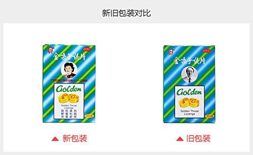 Golden Throat Lozenge Jin Sang Zi Quit Stop Smoking - (3 packs of 20 lozenges, 1.4 oz each)