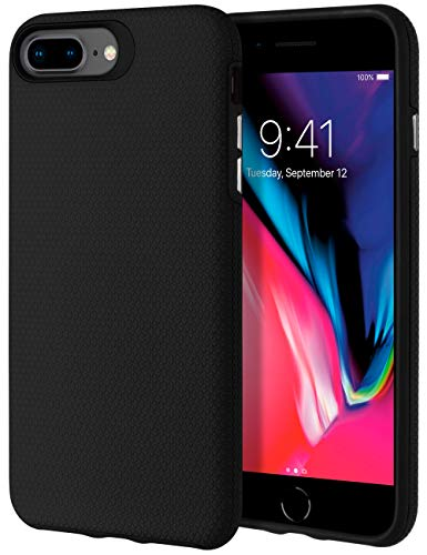 GOOSPERY Lococo Hybrid Designed for Apple iPhone 7 Plus Case/iPhone 8 Plus Case - Dual Layer Protection - (Matte Black) - Jelly Black Case