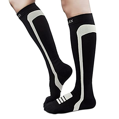 HIGHFLEX Compression Socks Women and Men 20-30 mmHg Sports Fit Compression Stockings for Running, Travel, Nurse, Pregnancy, Edema, Boost Calf Circulation, Surgery Recovery-Cushioned - Anti Blister Double Layer Cool