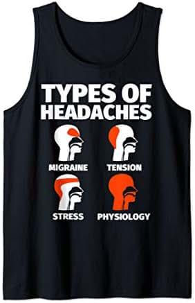 Physiology Funny Sayings Headache Meme Tank Top