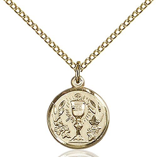 Bliss Gold Filled Communion Chalice Pendant 1/2 x 1/2 inc...