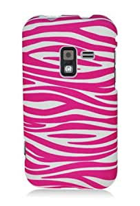Samsung R920 Galaxy Attain 4G Graphic Rubberized Shield Hard Case - Pink/White Zebra (Package include a HandHelditems Sketch Stylus Pen)