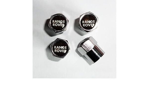 Tapones embellecedores para válvula de rueda de Range Rover Sport, Vogue, HSE y Evoque, cromados: Amazon.es: Coche y moto