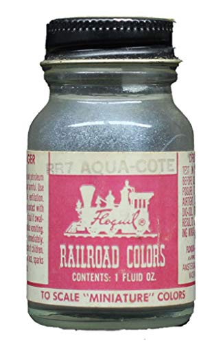 1 Oz Floquil Model Paint - Floquil Railroad Colors Enamel Paint Aqua Cote 1 oz 29.6mL Bottle