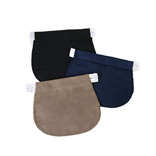 Florencinid Embarazo Correa de la Pretina de Cintura elástica Ajustable Pantalones Extender para Embarazadas