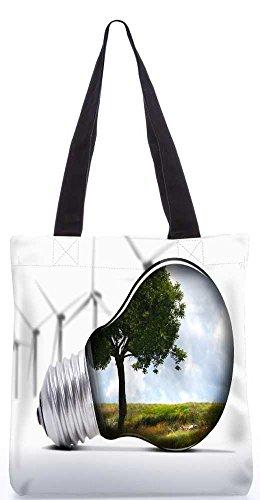 """Snoogg Baum In Eine Lampe Einkaufstasche 13,5 X 15 In """"Shopping-Dienstprogramm Tragetasche Aus Polyester Canvas"""