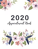 2020 Appointment Book: Beautiful Flower Cover, 2020 Planner Weekly and Monthly, 52 Weeks Daily Hourly Appointment Calendar With Times 15 Minute ... Book Daily Planner January - December 2020)