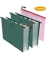 BluePower Hanging File Folders Letter Size File Organizer Expanding File Folder Accordian File Box