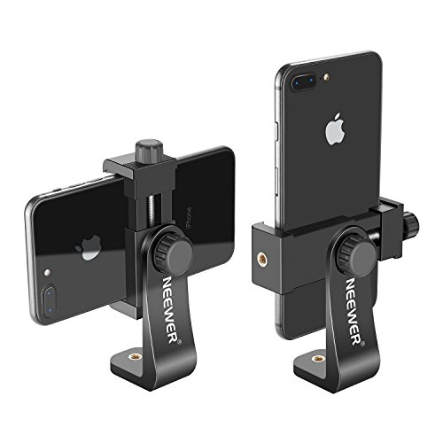 Neewer Smartphone Holder Vertical Bracket with 1/4-inch Tripod Mount - Phone Clip Tripod Adapter for iPhone Xs MAX/XS/ XR/X/...