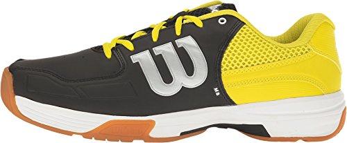 Wilson Recon Mens Indoor Court Shoe Black/white Black/Sulphur Spring aU8Mx