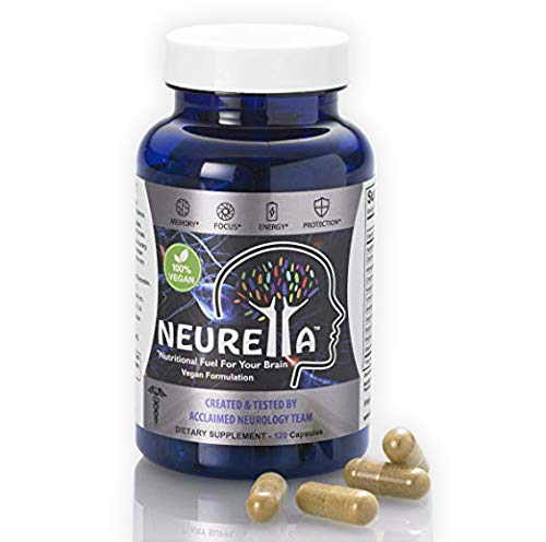 Neurella Extra Strength Vegan Brain Supplement – Powerful Brain Food & Memory Booster. Improve Focus, Clarity & Energy. Mental Performance Nootropic – Nutritional Vegetarian Brain Fuel. Review