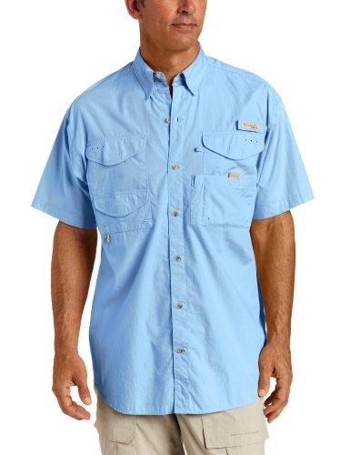 Columbia Men's Bonehead Short Sleeve Shirt, Blue, Small