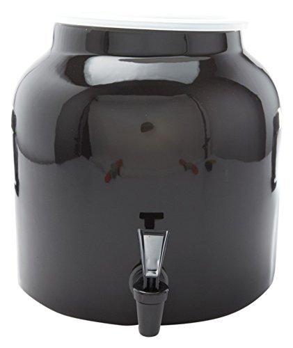 Bluewave Solid Design Water Dispenser Crock, Black