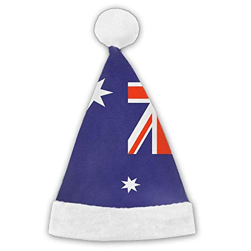 switchwak Australian Flag.jpg Xmas Christmas Christmas Santa Hat Holiday Theme Hats 3D Graphic Printed Adults Children ()