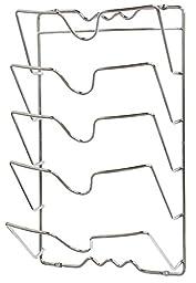 DecoBros Wall Door Mounted Pot Lid Rack, Chrome Finish
