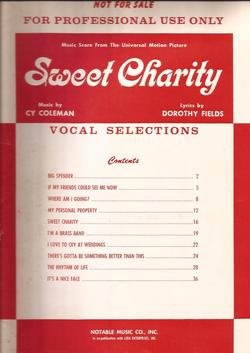 Sweet Charity Vocal Selections Professional Use Only! Vintage