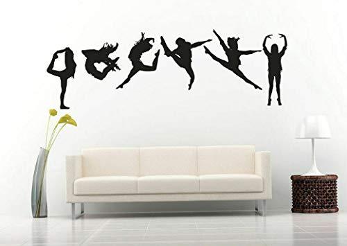 Tomikko Wall Art Vinyl Sticker Room Decal Mural Decor Gymnastic Girls Dance Art bo2346 | Model DCR - 24]()