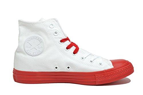 CONVERSE zapatillas de deporte unisex de alta 156765C CTAS HI BLANCO / ROJO Bianco