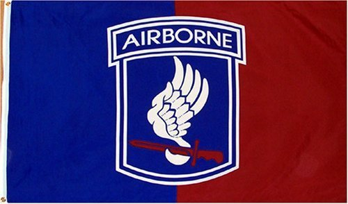 173rd Airborne #B (Large Patch) MILITARY Flag - 3 foot by 5 foot Polyester (NEW) by Two Group