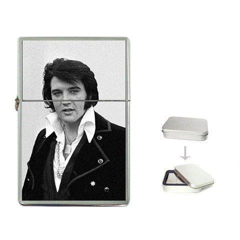 New Product Elvis_Presley_1970 Flip Top Cigarette Lighter + free Case Box