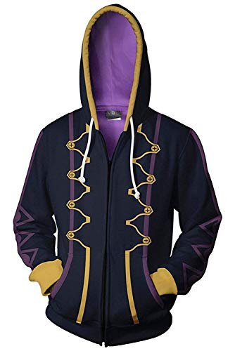 COSEASY Fire Emblem Awakening Heroes Robin Daraen Hoodie Hooded Jacket Sweatshirt Costume Coat Purple (Hoodie Fire Emblem)
