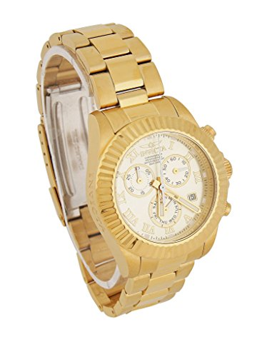 Invicta Pro Diver Chronograph Gold Dial Gold-tone Ladies Watch 18958