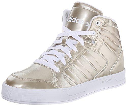 adidas Neo Women's Raleigh Mid W Casual Sneaker,Cyber Metallic/Cyber Metallic/Running White,7.5 M US