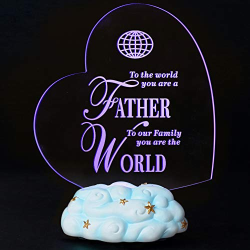 Giftgarden LED Light Heart Shaped Best New Birthday Gifts for Dad
