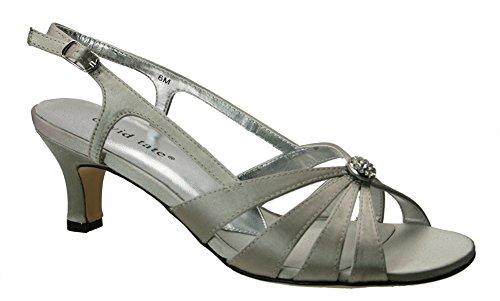 osette Evening Sandal,Silver Satin,7.5 M US ()