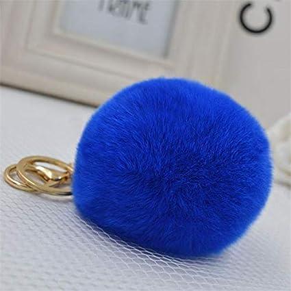 Amazon.com: Rarido Luxury Llavero 8cm Rabbit Fur Fluffy ...