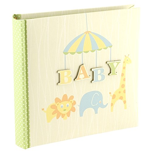 Malden International Designs Baby Animals Baby Photo Ablum, 80-4x6, Green