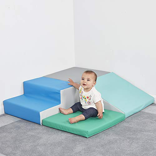 ECR4Kids SoftZone Little Me Foam Corner Climber - Indoor Active Play Structure for Toddlers and Kids - Soft Foam Play Set, Contemporary by ECR4Kids (Image #4)