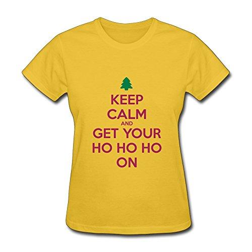 Christmas Keep Calm And Ho Ho O Neck Woman S T Shirts