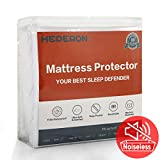 HEPERON Queen Size Premium 100% Waterproof Mattress Protector, Mattress Pad Cover, Vinyl-Free, Comfortable & Noiseless, Fitted for 8'-21' mattresses