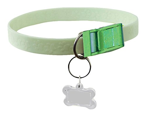 Davis FurEver Brite Glow in The Dark Pet Safety Collar, Small to Medium