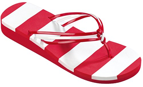 Beco Unisex V de Strap Slipper rojo / blanco