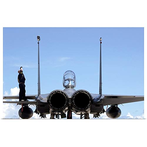 - GREATBIGCANVAS Poster Print Entitled Airman Checks an F-15E Strike Eagle for airframe Damage by Stocktrek Images 18