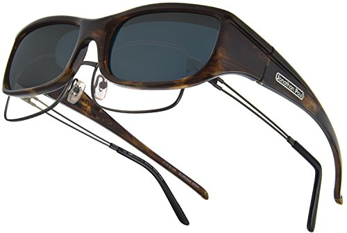 Fitovers Eyewear Euroka/Nagari Sunglasses (Brown Marble, Polarvue - Vs Gray Brown Sunglasses