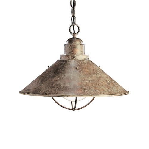 Kichler 2713OB Seaside 1LT Exterior Hanging Pendant, Olde Brick Finish by Kichler Lighting
