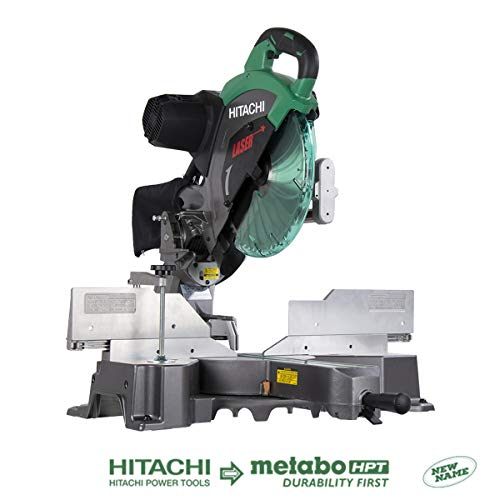 Hitachi C12RSH2 15-Amp 12-Inch Dual Bevel Sliding Compound Miter Saw with Laser Marker (Hitachi 10 Inch Sliding Compound Miter Saw)