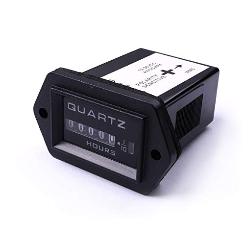 Quartz Hour Meter - ATOPLEE 12V to 36V Truck Tractor Diesel Outboard Engine Hour Meter Rectangular