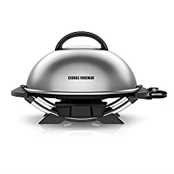 George Foreman 15-serving Indooroutdoor Electric Grill, Silver, Gfo240s