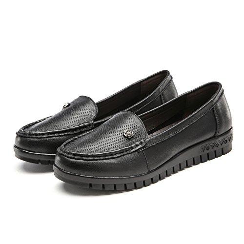 Cuero suave zapatos inferiores/Primavera patín zapatos planos/ los zapatos de tacón bajo de la boca baja B