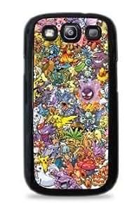 Pokemon Collage Samsung Galaxy S3 Silicone Case - Black 636