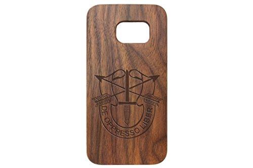 for Samsung Galaxy S7 Black Walnut Wood Phone Case NDZ US Army Special Forces Emblem
