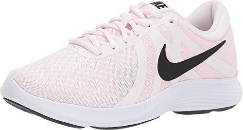 (Nike Women's Revolution 4 Pale Pink/Black/Pink Foam/White 10.5 B)