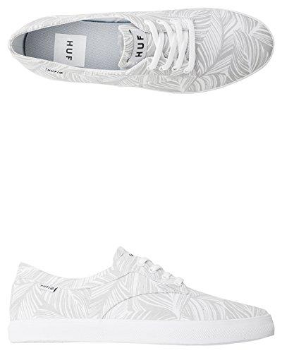 HUF - Zapatillas de skateboarding de Lona para hombre Blanco White Palm White Palm