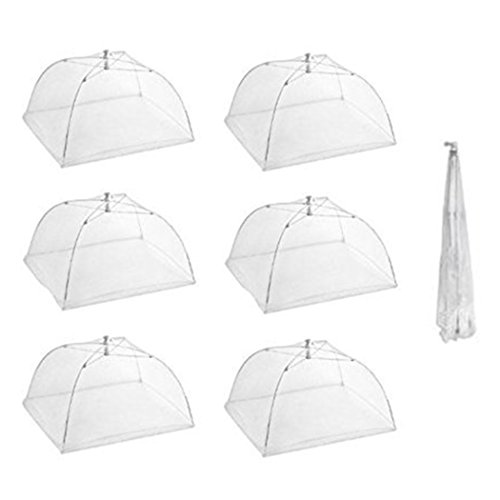 Cheap  Tailbox Set of 6 Large Pop-Up Mesh Screen Food Cover Tent Umbrella..