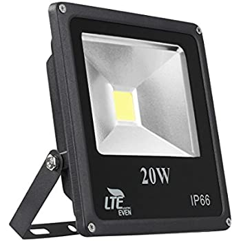 20W LED Flood Light Outdoor, LTE Super Bright LED Security Lights, IP66  Waterproof Work